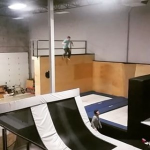 Airhouse Indoor Trampoline Freestyle training center Squamish BC ridespots