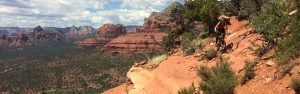 Carmen Mountain Bike Riding the Hangover Trail in Sedona Arizona Ridespots