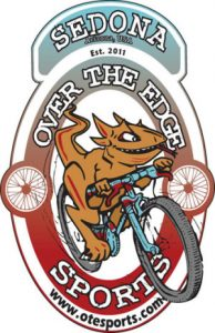 Sedona, Arizona Over The Edge Bike Shop Logo, RideSpots.com, OTE sports