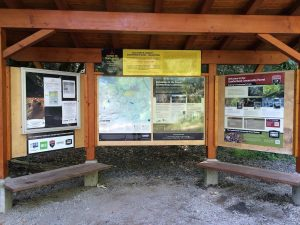 Cumberland's trails are mostly in working forests. Stop by the trail network kiosk at the start of your ride for more information and for the latest trail updates.