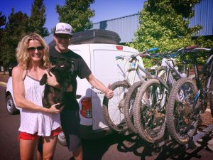 BC Mountain Bike Road Trip - Andrea and Don - Van Life!